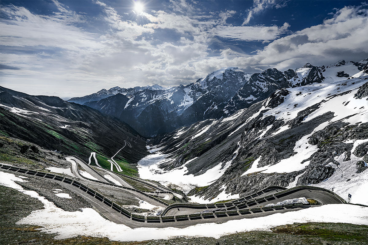 The Stelvio - Gifts for Cyclists The Great Cycling Road Climbs cycling landscape photography by davidt