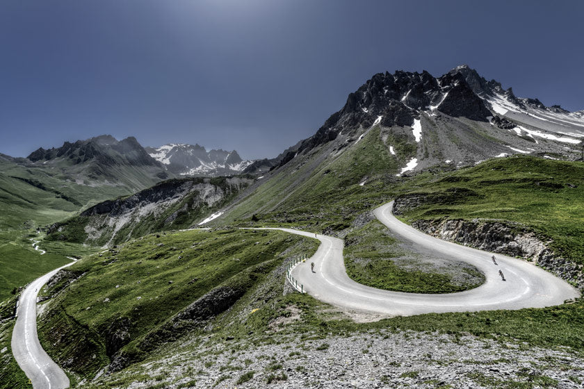 Col du Galibier Cycling photography prints by davidt gifts for cyclists. Great Cycling Road Climbs