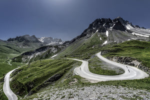 Col du Galibier - Horseshoe The Great Cycling Road Climbs - Gifts for cyclists by davidt