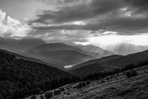 Col d'Aspin Payolle B&W Pain Cave pictures Cycling Landscape Photogrpahy Cycling Art - Gifts for Cyclists - Black and White fine art cycling landscape photography for your home, office and studio by davidt