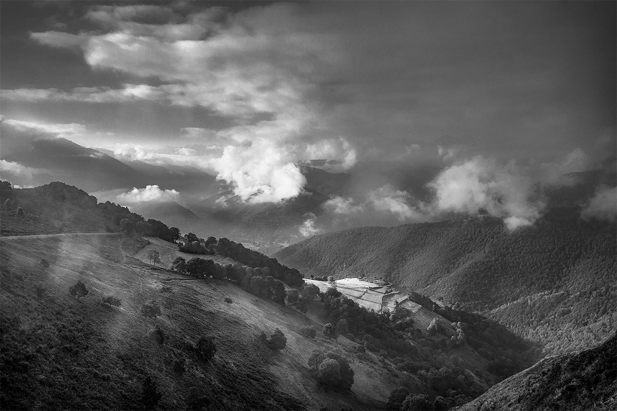 Cycling landscapes Col d'Aspin - Fine art Black & White photography of the Great Cycling Road Climbs by davidt