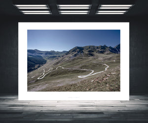 Col de la Bonette. Gifts for Cyclists. One of the Great Cycling Road Climbs. Fine art cycling landscape photography by davidt. For you pain cave, office and home.