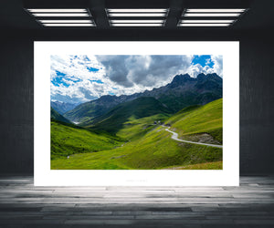 Gifts for Cyclists, the Col de la Croix de Fer. Fine art cycling landscape photography prints by davidt. For your home, office and gym. The Alps at their best.