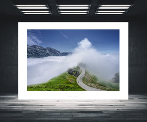 Cycling Art - Gifts for Cyclists - Col d'Aubisque - Don't Look Back - Fine art photography prints. One of the Great Cycling Road Climbs for your home, office and pain cave by davidt. Make a house a home.