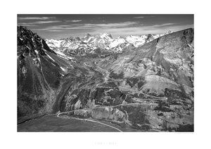 Col du Galibier - Home to the Gods of Cycling B&W by davidt
