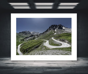 Gifts for Cyclists - Col du Galibier, Horseshoe. The Great Cycling Road Climbs. Cycling landscapes for your home, office, studio and pain cave by davidt
