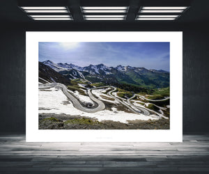 Gifts for Cyclists, the Col du Galibier. Fine art cycling landscape photography prints by davidt. For your home, office and gym. The Alps at their best.