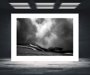 Let it Roll B&W Pain Cave pictures Cycling Landscape Photogrpahy Cycling Art - Gifts for Cyclists - Black and White fine art cycling landscape photography for your home, office and studio by davidt