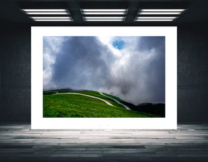 Gifts for Cyclists - No Fear - The Iconic Road Fine art cycling landscape photography for the home, the office and the pain cave by davidt. Pain Cave Pictures