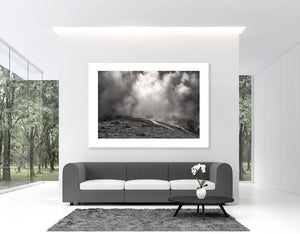 It's Only Rock & Roll B&W Pain Cave pictures Cycling Landscape Photogrpahy Cycling Art - Gifts for Cyclists - Black and White fine art cycling landscape photography for your home, office and studio by davidt