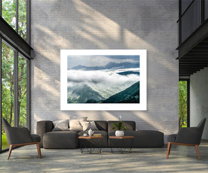 Col du Soulor - Cloud Cover. Gifts for Cyclists, one of the Great Cycling Road Climbs for your home, workspace, office and pain cave by davidt.