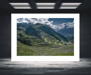 Gifts for Cyclists - St. Gotthard Pass - The Great Cycling Road Climbs by davidt. For your office, home and pain cave.