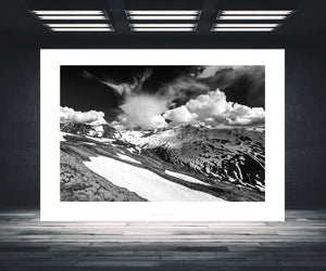 Cycling Art - The Stelvio from Bormio - Black and White cycling photography. Great Cycling Climbs by davidt. Cycling Art for your home, office and pain cave.