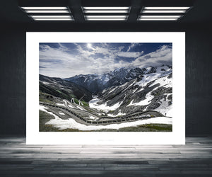 Cycling Art Stelvio Pass - Stairway to Heaven. One of the Great Cycling Road Climbs for home and work. Fine art cycling photography by davidt