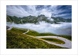 Gifts for Cyclists - Time to Play - One of the Great Cycling Road Climbs - fine art cycling landscape photography prints by davidt. For your home, office, studio and pain cave.