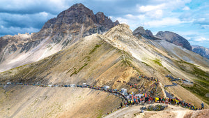 Le Grand Galibier is the name given to the mountain the Col du Galibier climbs. When the Tour de France visits it is the best seat in the house. Cycling gifts for your office, home and pain cave.