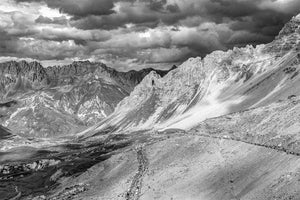 Col du Galibier - Tour de France Black and White. The Great Cycling Road Climbs by davidt. Gifts for Cyclists for your home, office, workplace and pain cave.