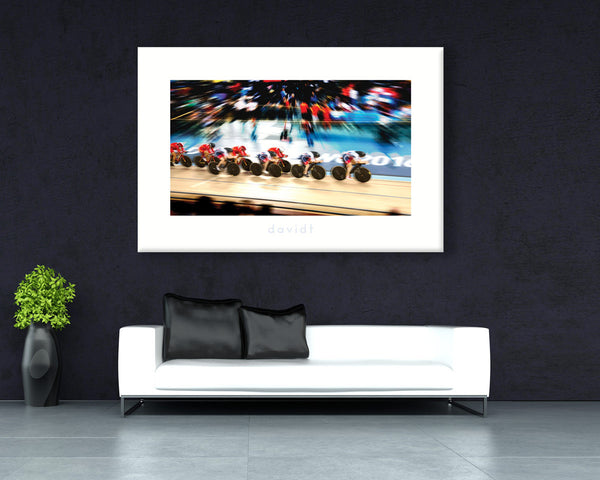 The Catch - davidt cycling photography - Canvas