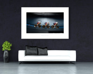 Welcome to the Velodrome - davidt cycling photography - Canvas