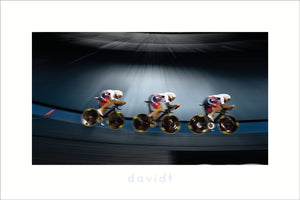 Welcome to the Velodrome - davidt cycling photography - Print