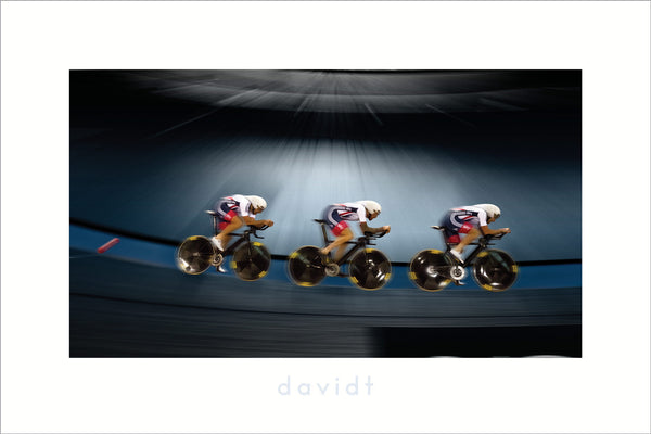 Welcome to the Velodrome - davidt cycling photography print