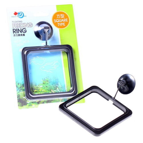 Fish Feeding Square Aquarium Fish Tank Ring Feeder Floating Food Circle 10cm
