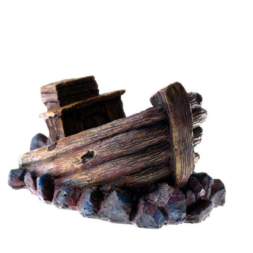 Wreck Wreckage Cave L/M Aquarium Ornament Fishing SHIP Boat FISH TANK decoration