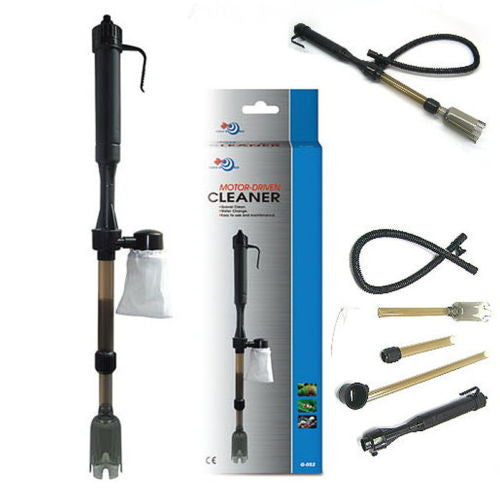 Motor driven cleaner extendable 53~82cm - water Siphon Gravel coral sand Battery