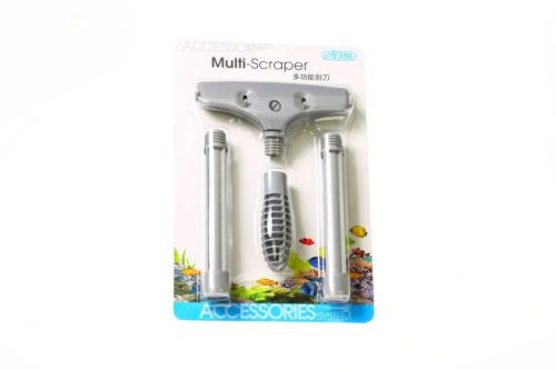 Aquarium Algae scraper blade Cleaner - Multi glass Stainless Steel & Rubber ista