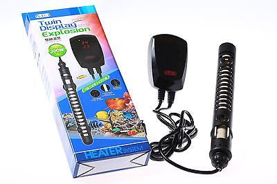 Twin Display Thermostat 500W/300W/100W Heater 50~500L FISH TANK Salt Water