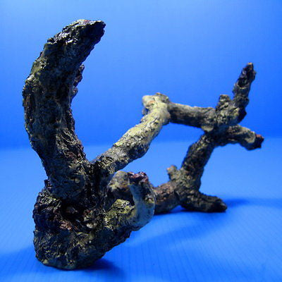Tree Trunk Aquarium Ornament 14cm - roots Decor Rock kh