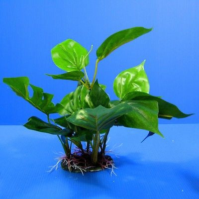 "3D Aquarium PLASTIC PLANTS 12.5""L Ornament fish Decor"