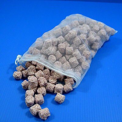 2.4L PH7~7.5 Ceramic Freshwater fish filter media 1200g & 4 FREE Filter Net Bag