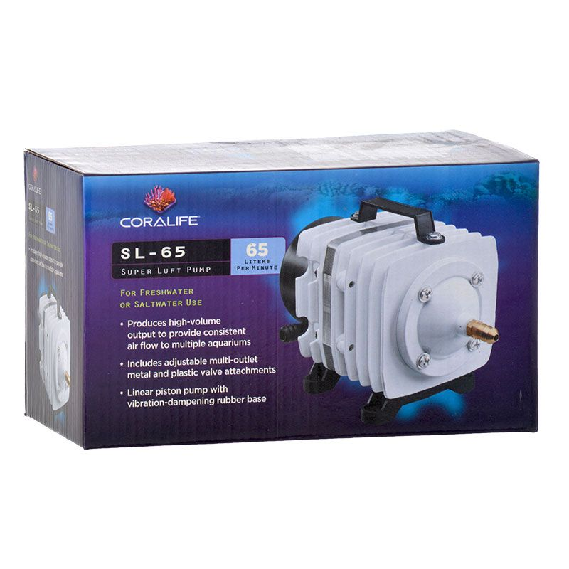 Goaqua88 Coralife Super Luft Air Pump | SL65 - Output 3.9 psi - Up to 6 Outlets