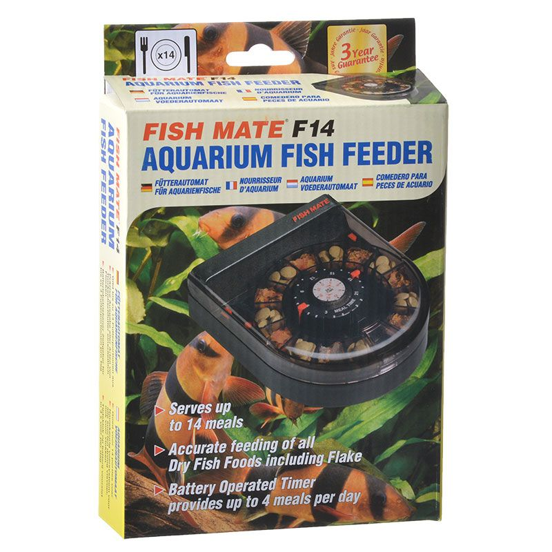 Goaqua88 Fish Mate F14 Aquarium Fish Feeder | Up to 14 Medications