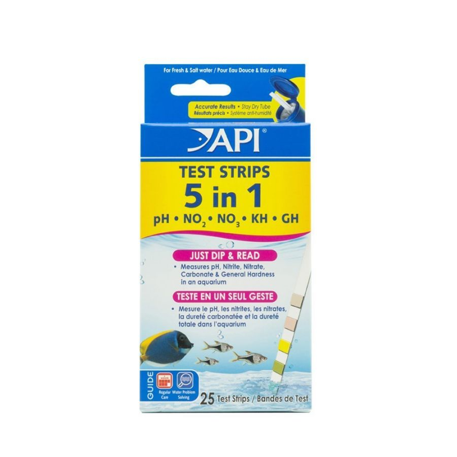 Goaqua88 API 5 in 1 Aquarium Test Strips | 25 strips