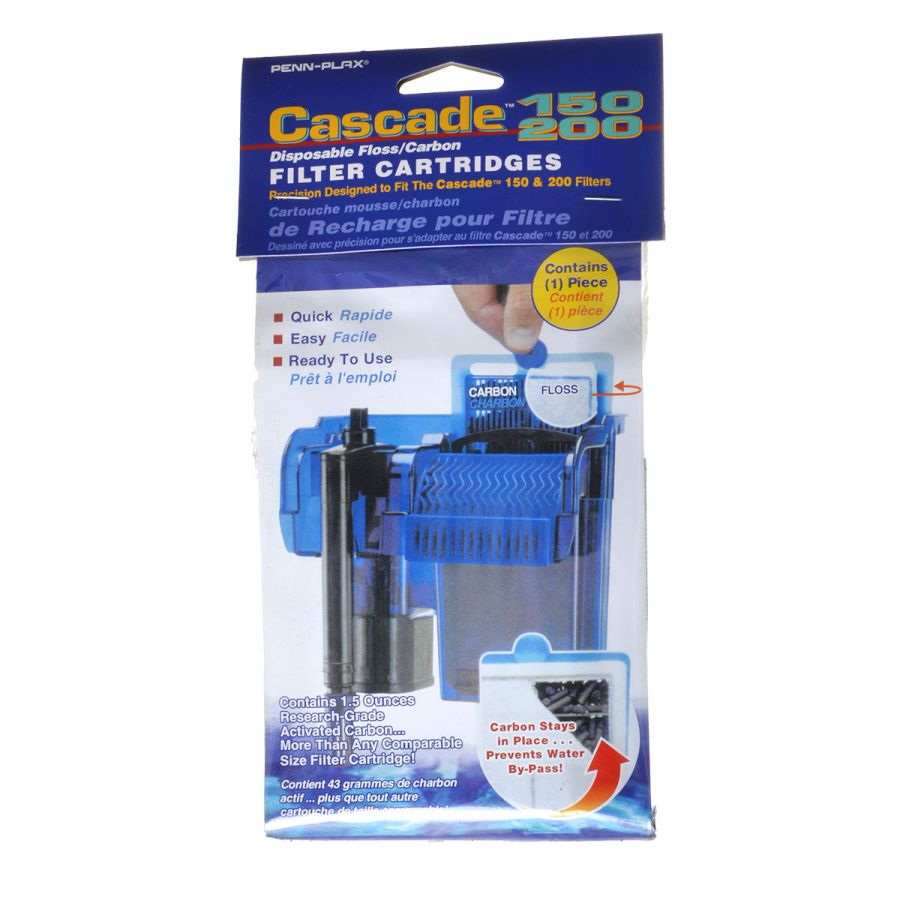 Goaqua88 Cascade 150/200 Disposable Floss & Carbon Power Filter Cartridges | 1 Pack