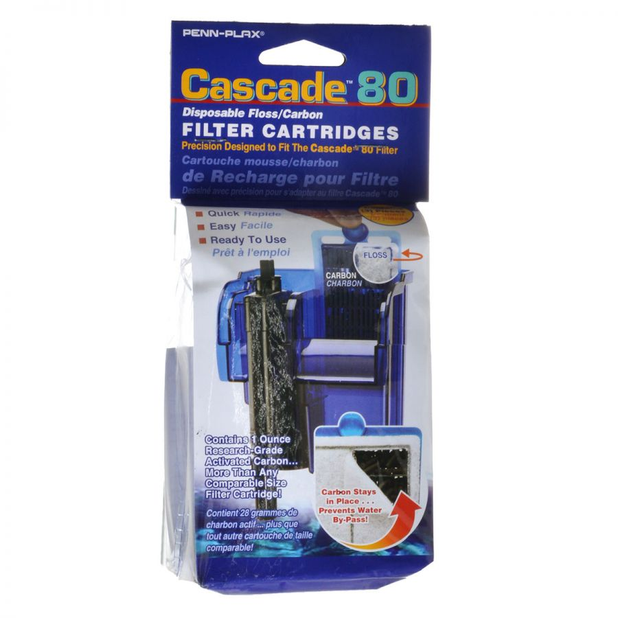 Goaqua88 Cascade 80 Disposable Floss & Carbon Power Filter Cartridges | 3 Pack
