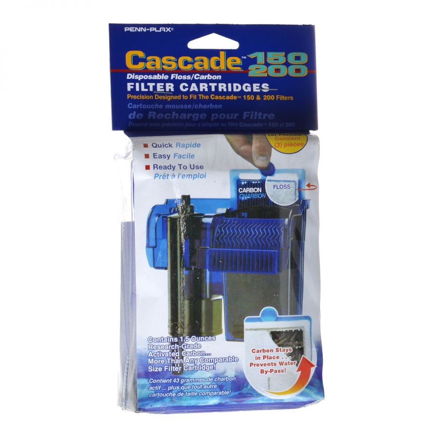 Goaqua88 Cascade 150/200 Disposable Floss & Carbon Power Filter Cartridges | 3 Pack
