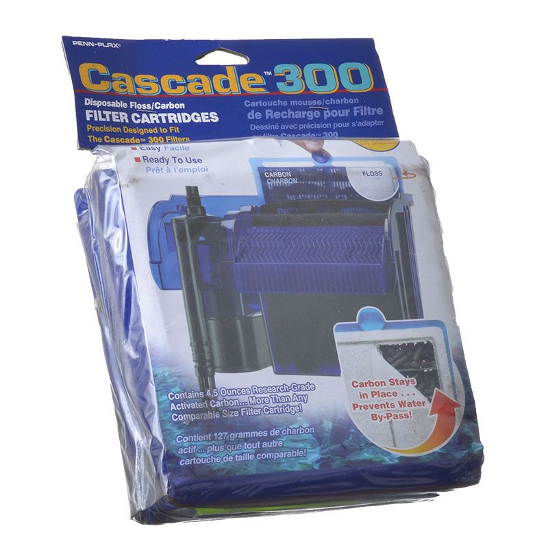 Goaqua88 Cascade 300 Disposable Floss & Carbon Power Filter Cartridges | 3 Pack