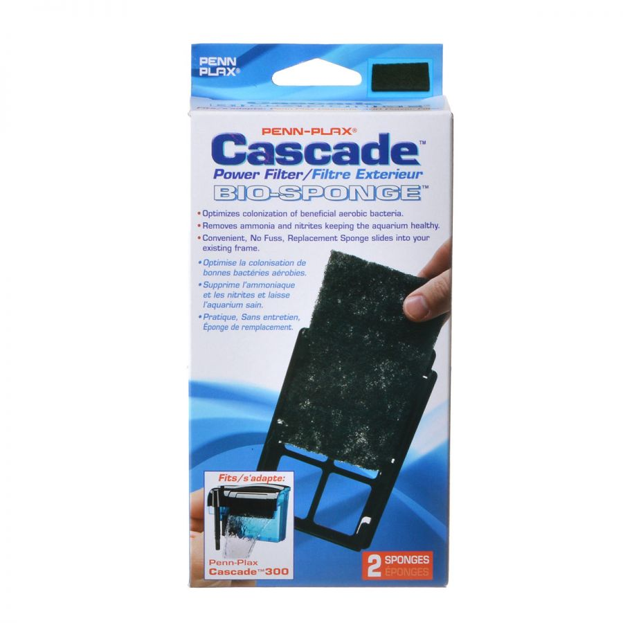Goaqua88 Cascade Power Filter Bio-Sponge Cartridge | Cascade 300 Sponge Cartridge (2 Pack)
