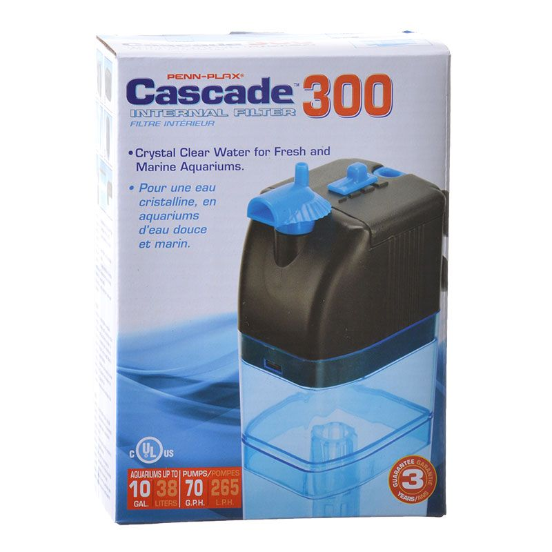 Goaqua88 Cascade Internal Filter | Cascade 300 - Up to 10 Gallons (70 GPH)