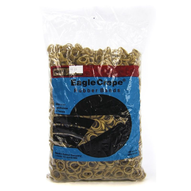 Goaqua88 Elkay Plastics - Eagle Crepe #26 Rubber Bands | 1 lb Bag