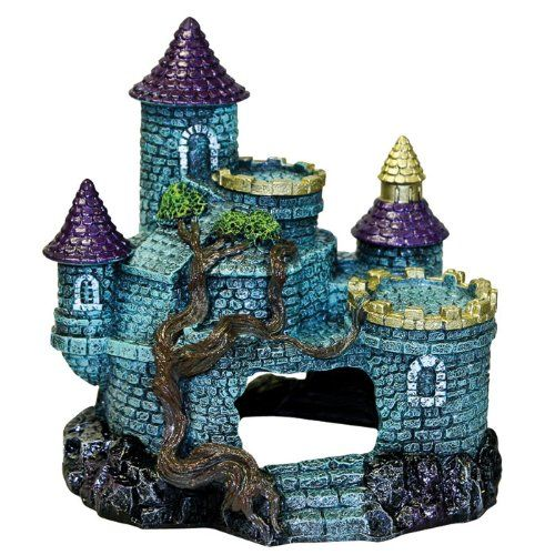"Goaqua88 Blue Ribbon Exotic Environments Hobbit Castle Aquarium Ornament | 6.25""L x 5.5""W x 6.25""H"