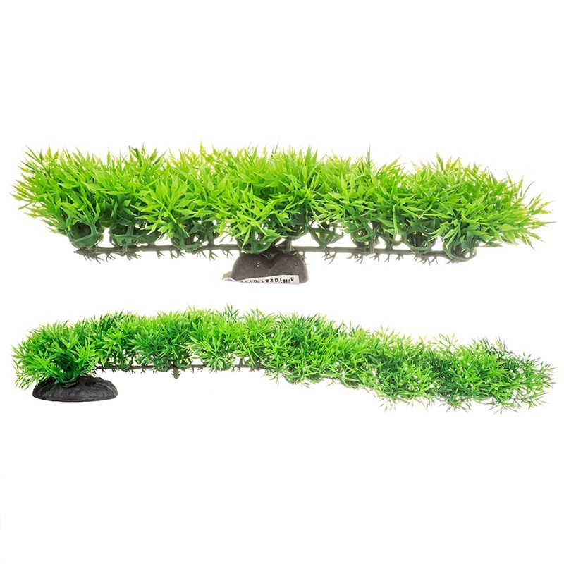 "Goaqua88 Aquatop Fuzzy Aquarium Plant - Green | 8"" Wide x 2"" High"