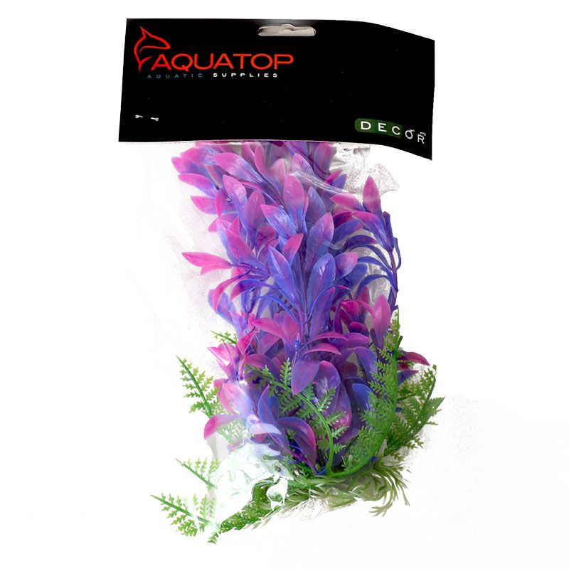 "Goaqua88 Aquatop Hygro Aquarium Plant - Pink & Purple | 6"" High w/ Weighted Base"