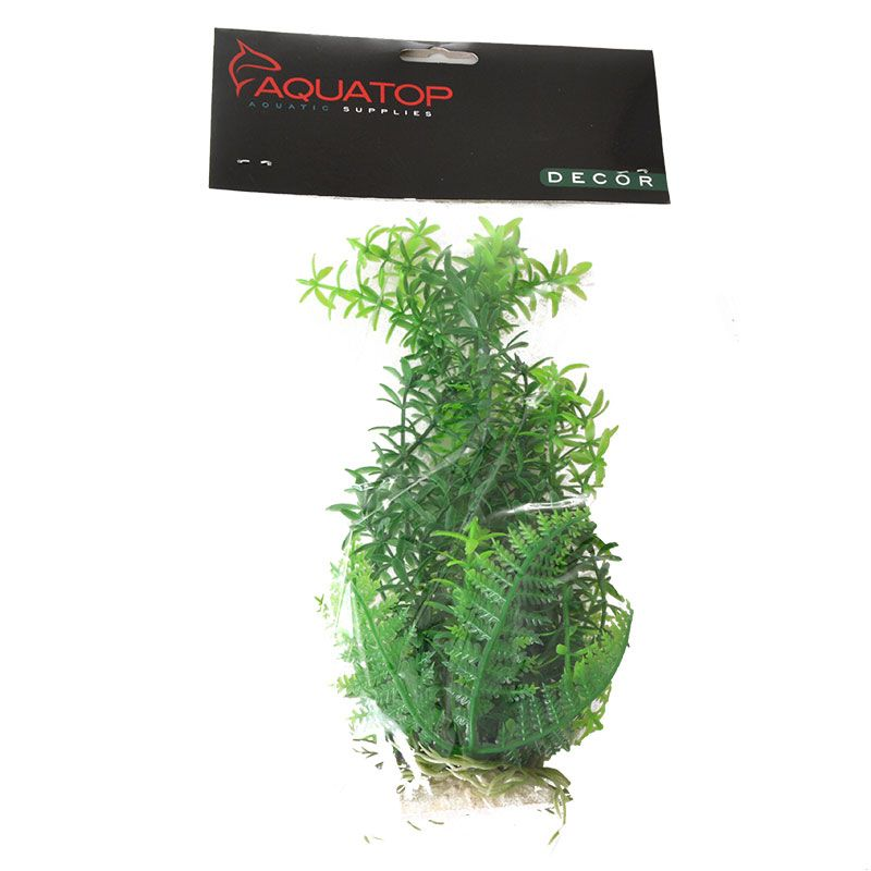 "Goaqua88 Aquatop Anacharis Aquarium Plant - Green | 9"" High w/ Weighted Base"