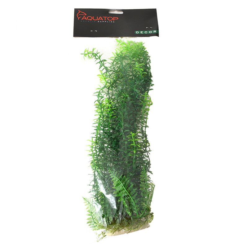 "Goaqua88 Aquatop Anacharis Aquarium Plant - Green | 12"" High w/ Weighted Base"