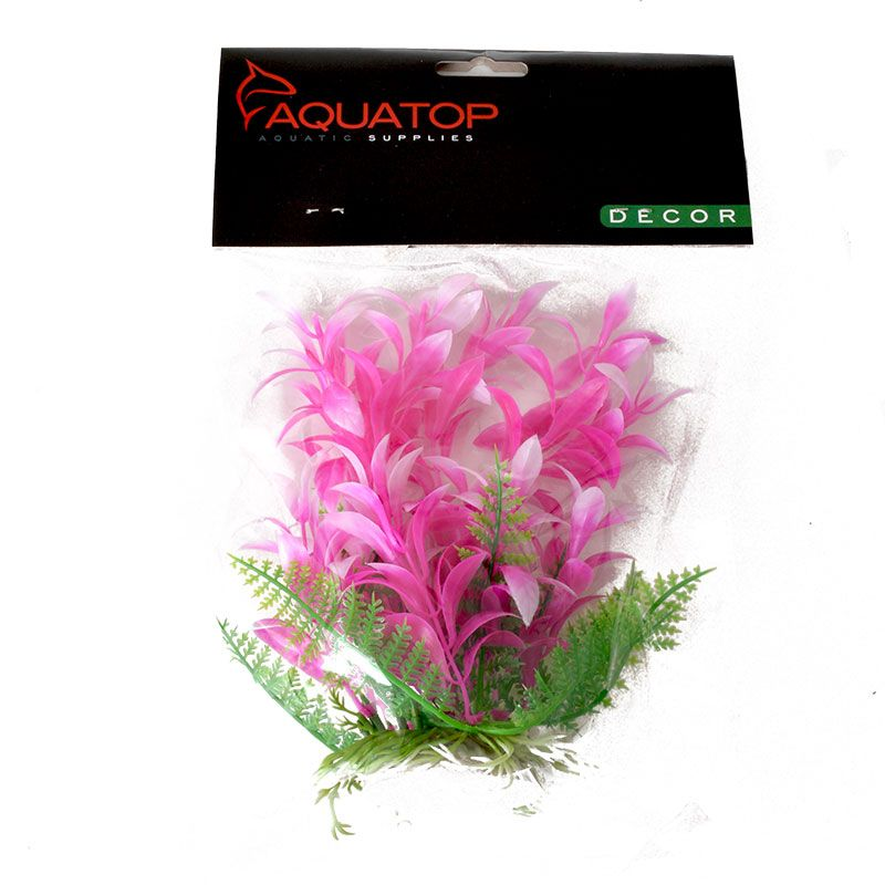 "Goaqua88 Aquatop Bacopa Aquarium Plant - Pink & White | 6"" High w/ Weighted Base"