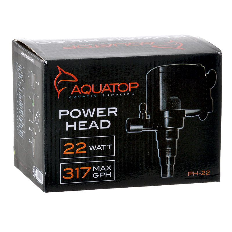 Goaqua88 Aquatop TruAqua PH Series Power Head | PH-22 - 317 GPH - (22 Watt)